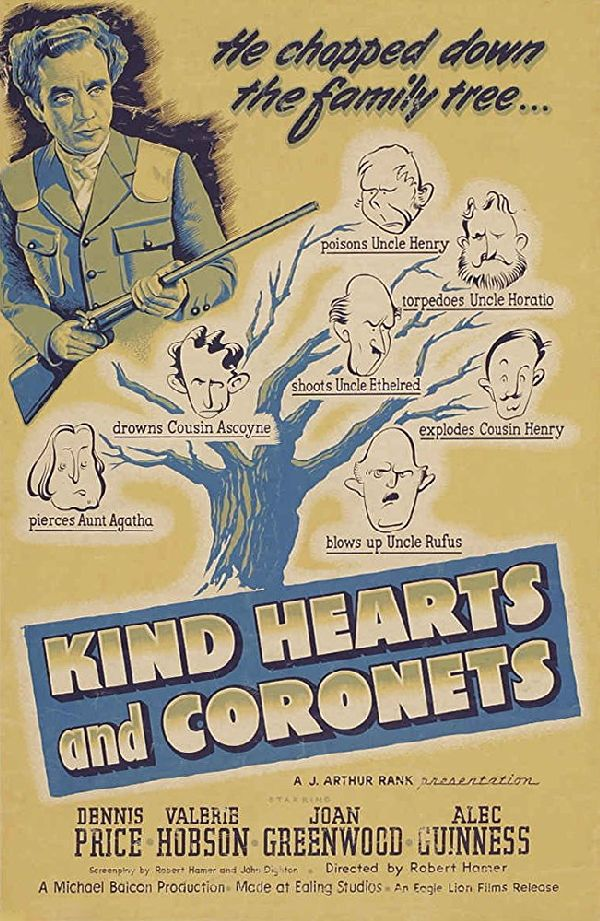 'Kind Hearts And Coronets' movie poster