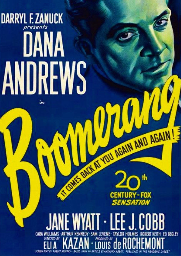 'Boomerang!' movie poster