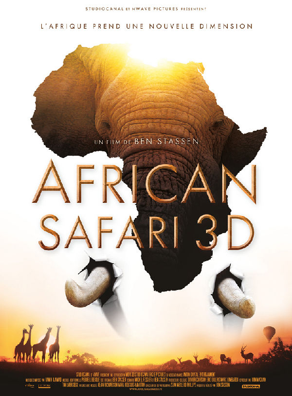 'African Safari 3D' movie poster
