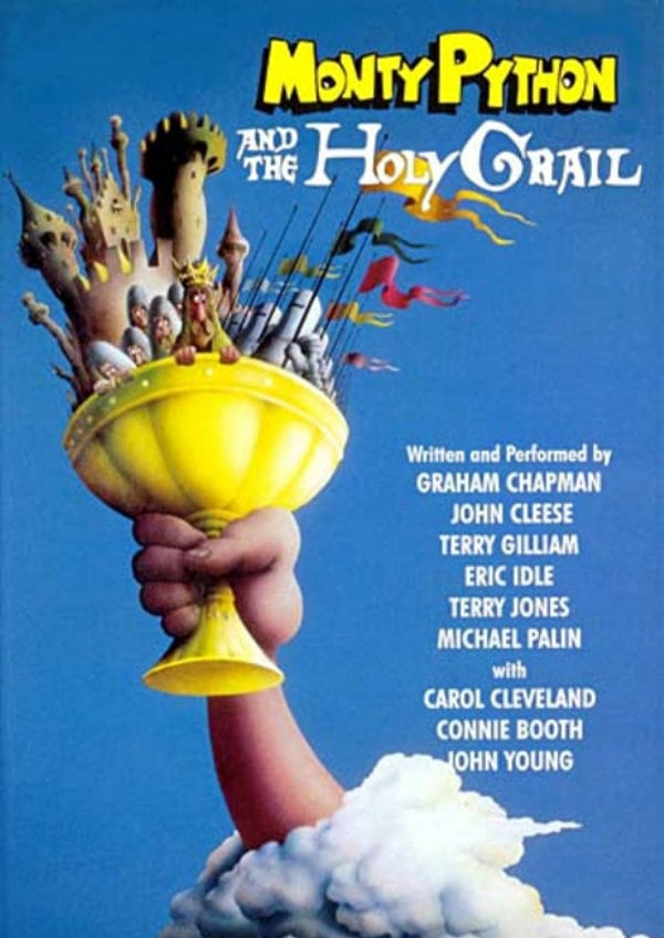 'Monty Python And The Holy Grail' movie poster