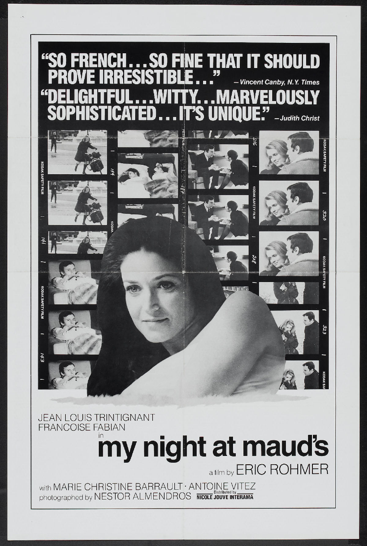 'My Night At Maud's (Ma nuit chez Maud)' movie poster