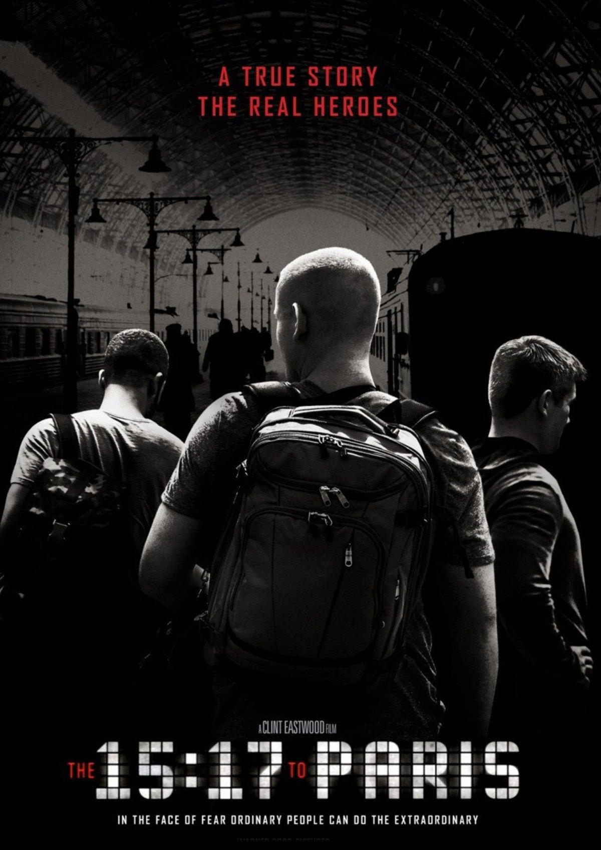'The 15:17 To Paris' movie poster