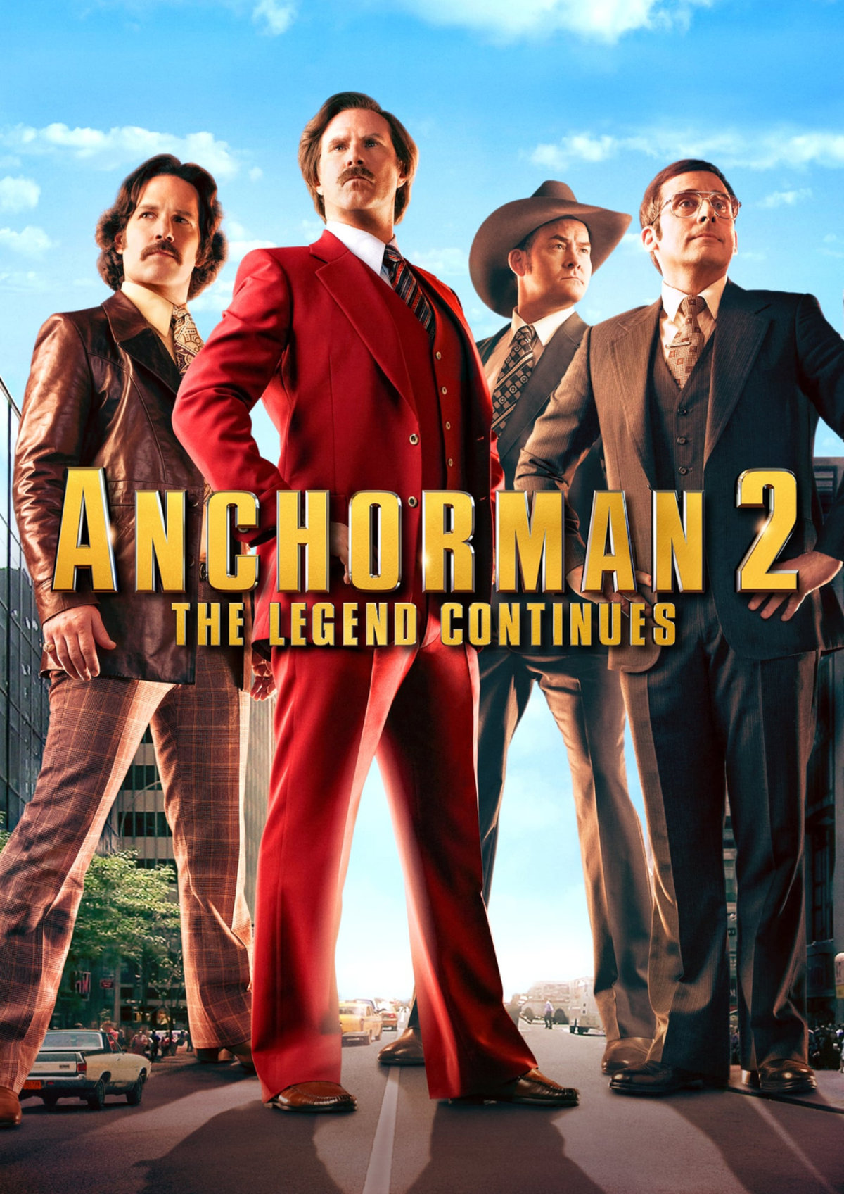 'Anchorman 2: The Legend Continues' movie poster