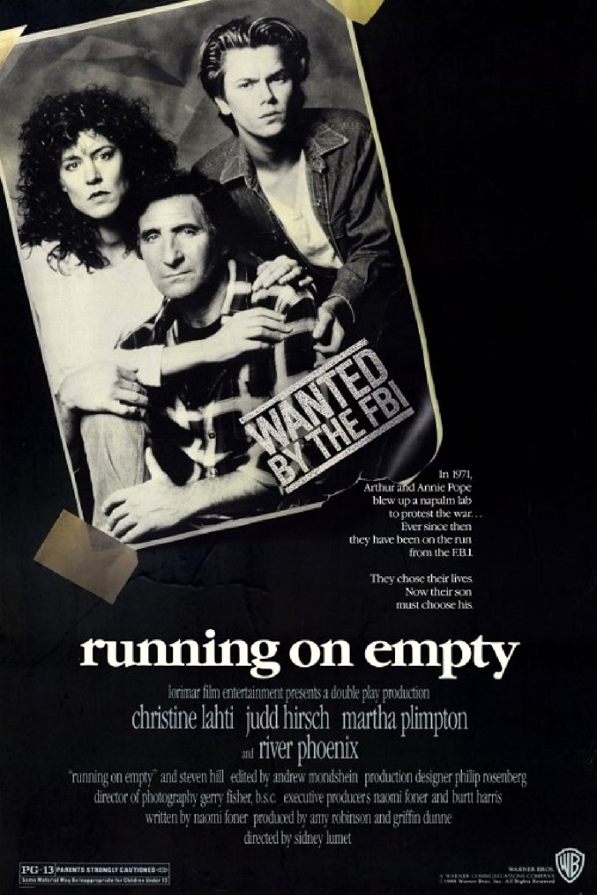 'Running on Empty' movie poster