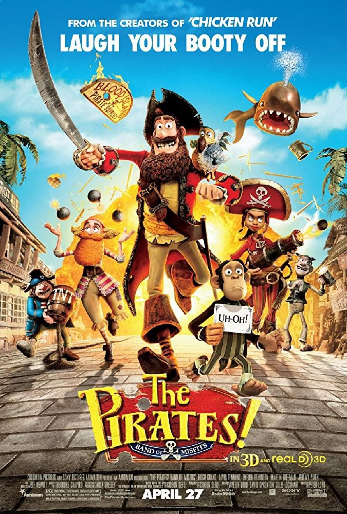 'The Pirates! In An Adventure With Scientists' movie poster