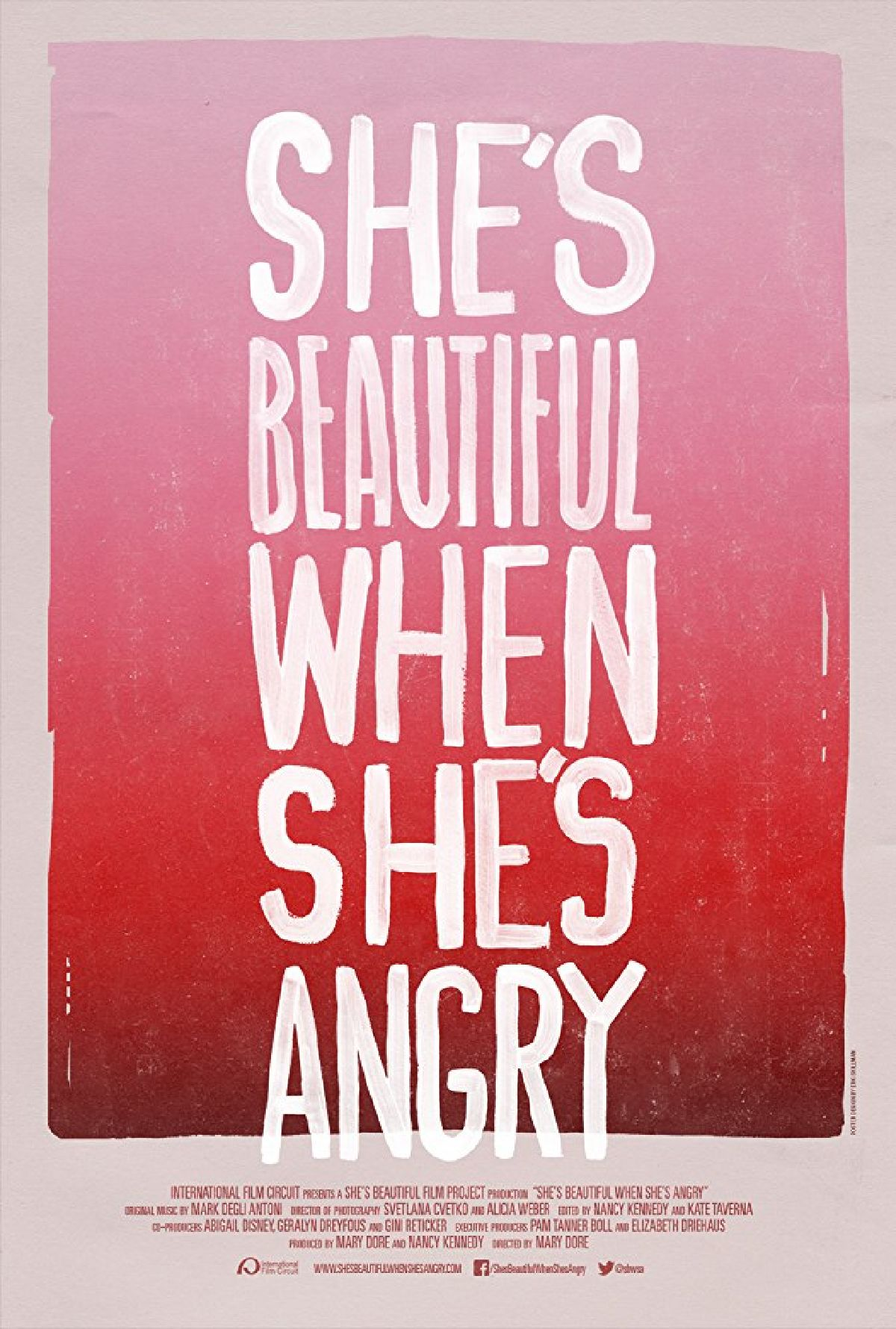 'She's Beautiful When She's Angry' movie poster