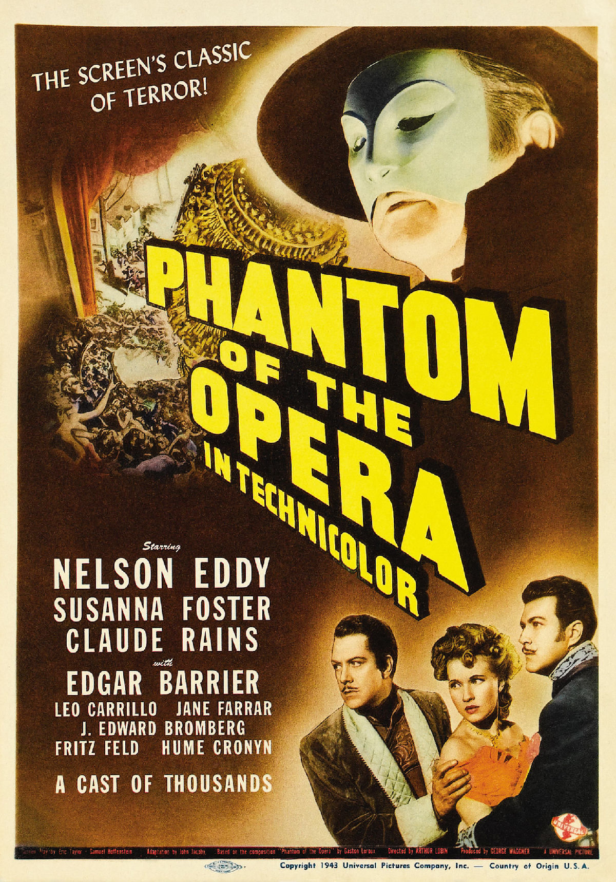 'Phantom Of The Opera' movie poster