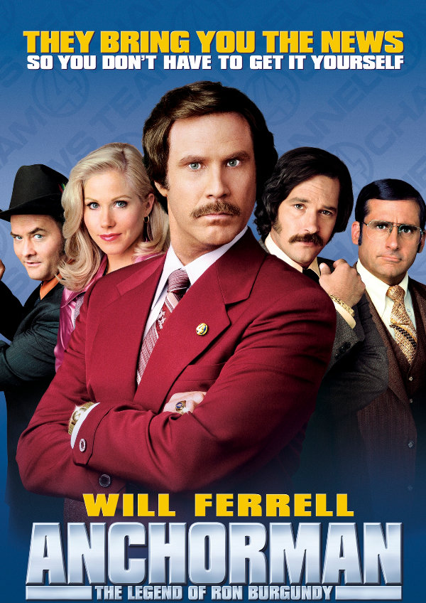 'Anchorman: The Legend Of Ron Burgundy' movie poster