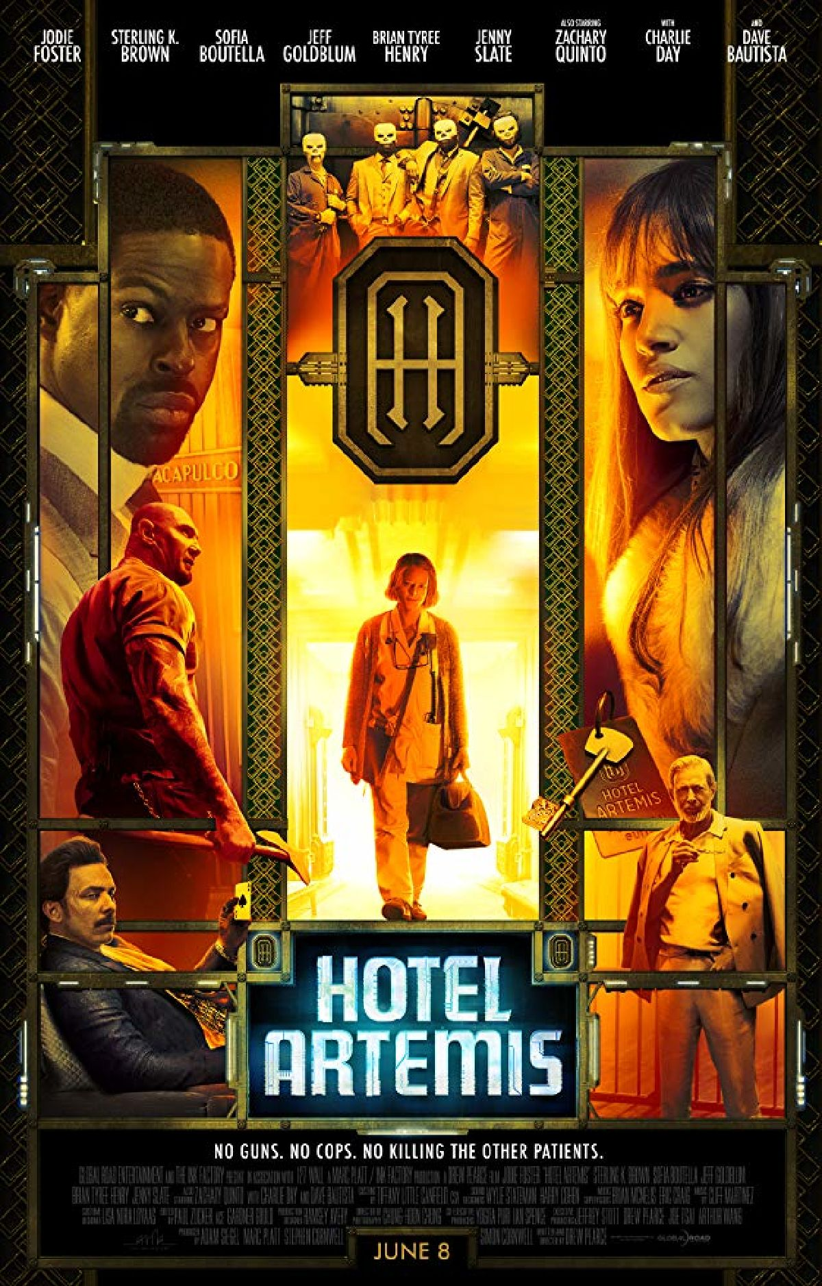 'Hotel Artemis' movie poster