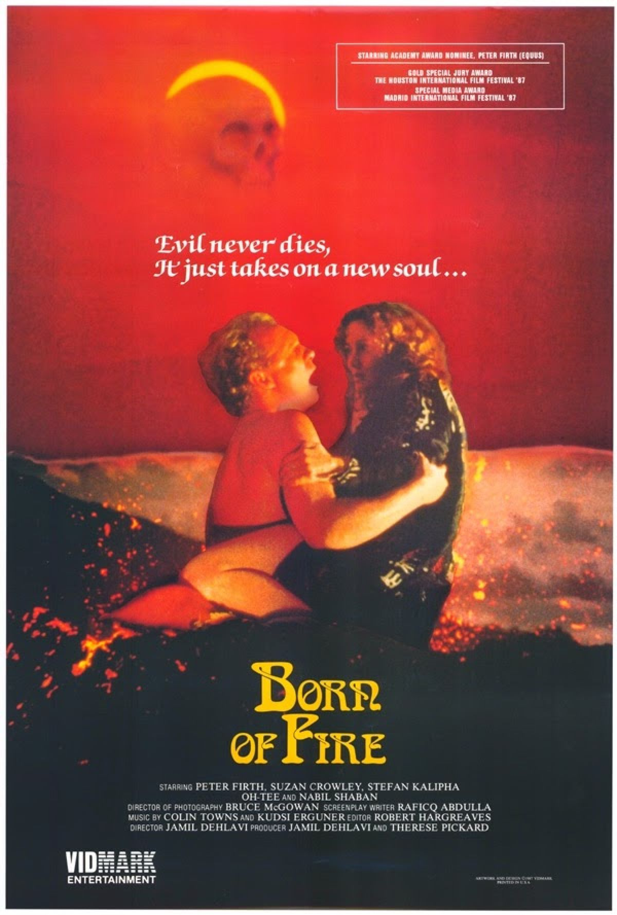 'Born Of Fire' movie poster