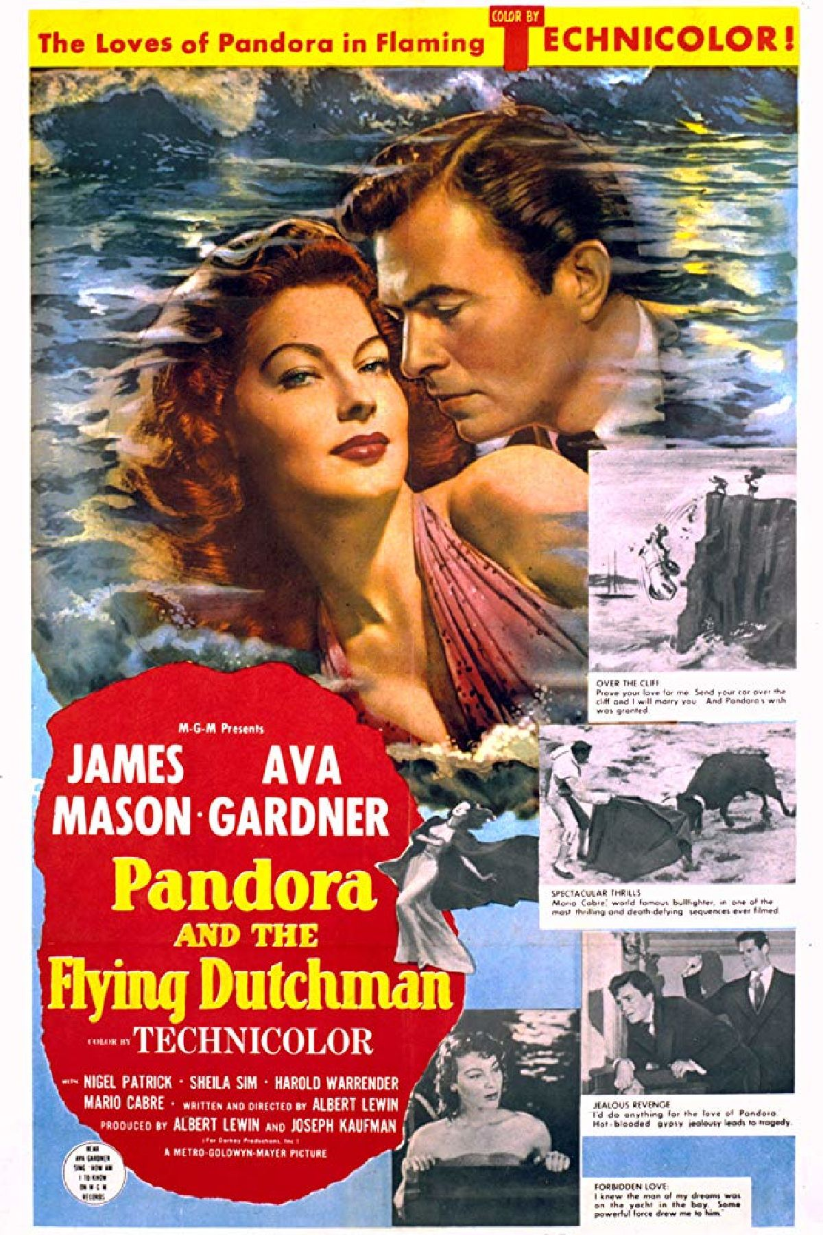 'Pandora And The Flying Dutchman' movie poster