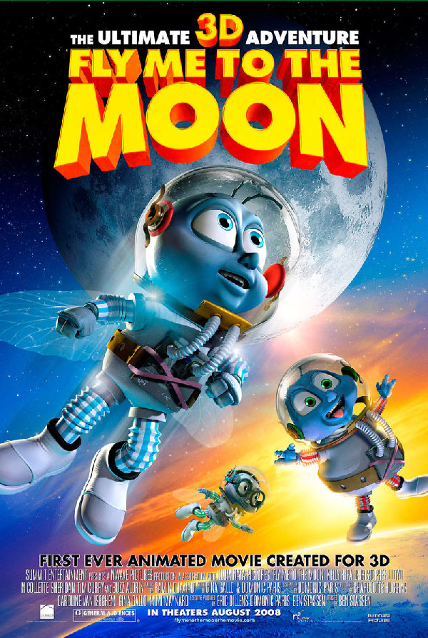 'Fly Me to the Moon 3D' movie poster