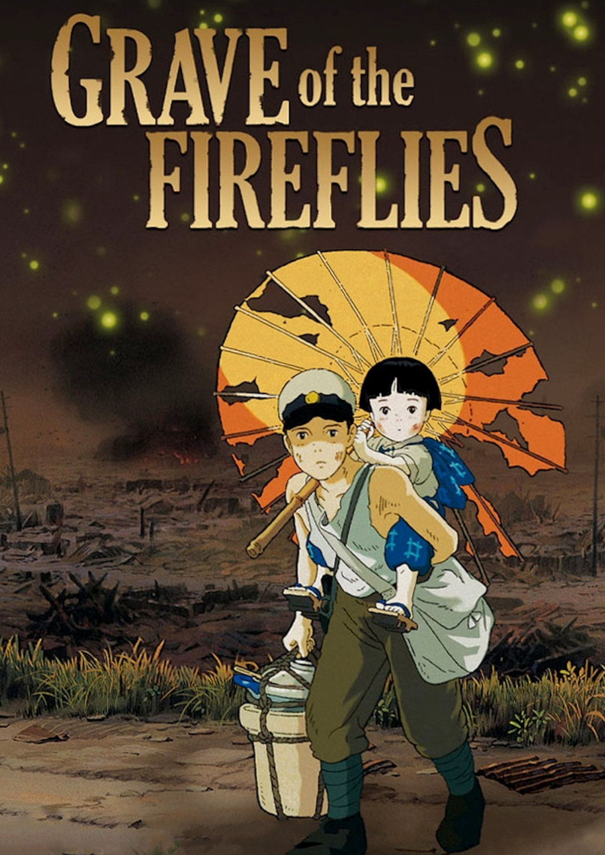 'Grave of the Fireflies (Hotaru no haka)' movie poster
