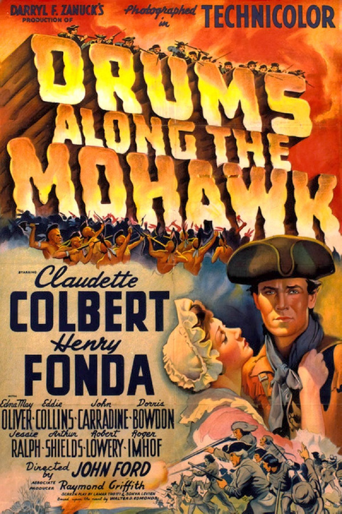'Drums Along the Mohawk (1939)' movie poster