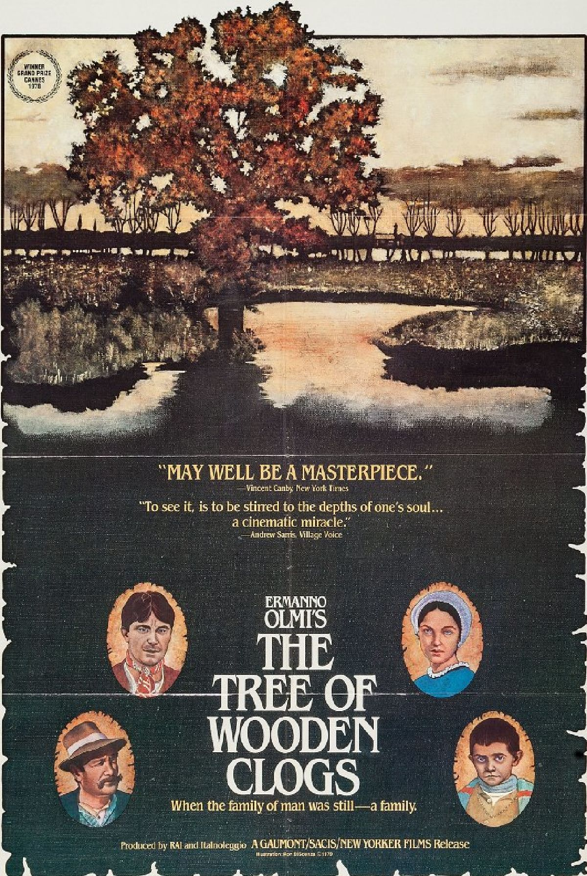 'The Tree of Wooden Clogs (L'albero degli zoccoli)' movie poster