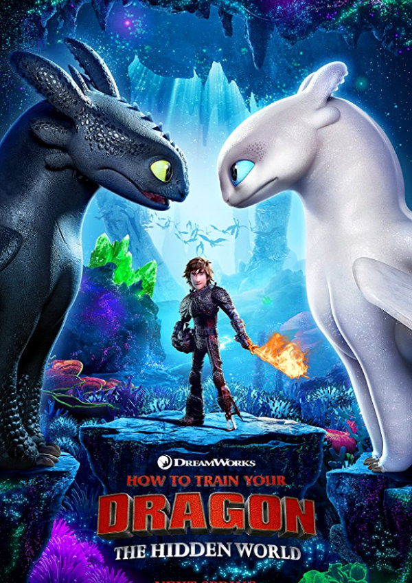 'How To Train Your Dragon: The Hidden World' movie poster