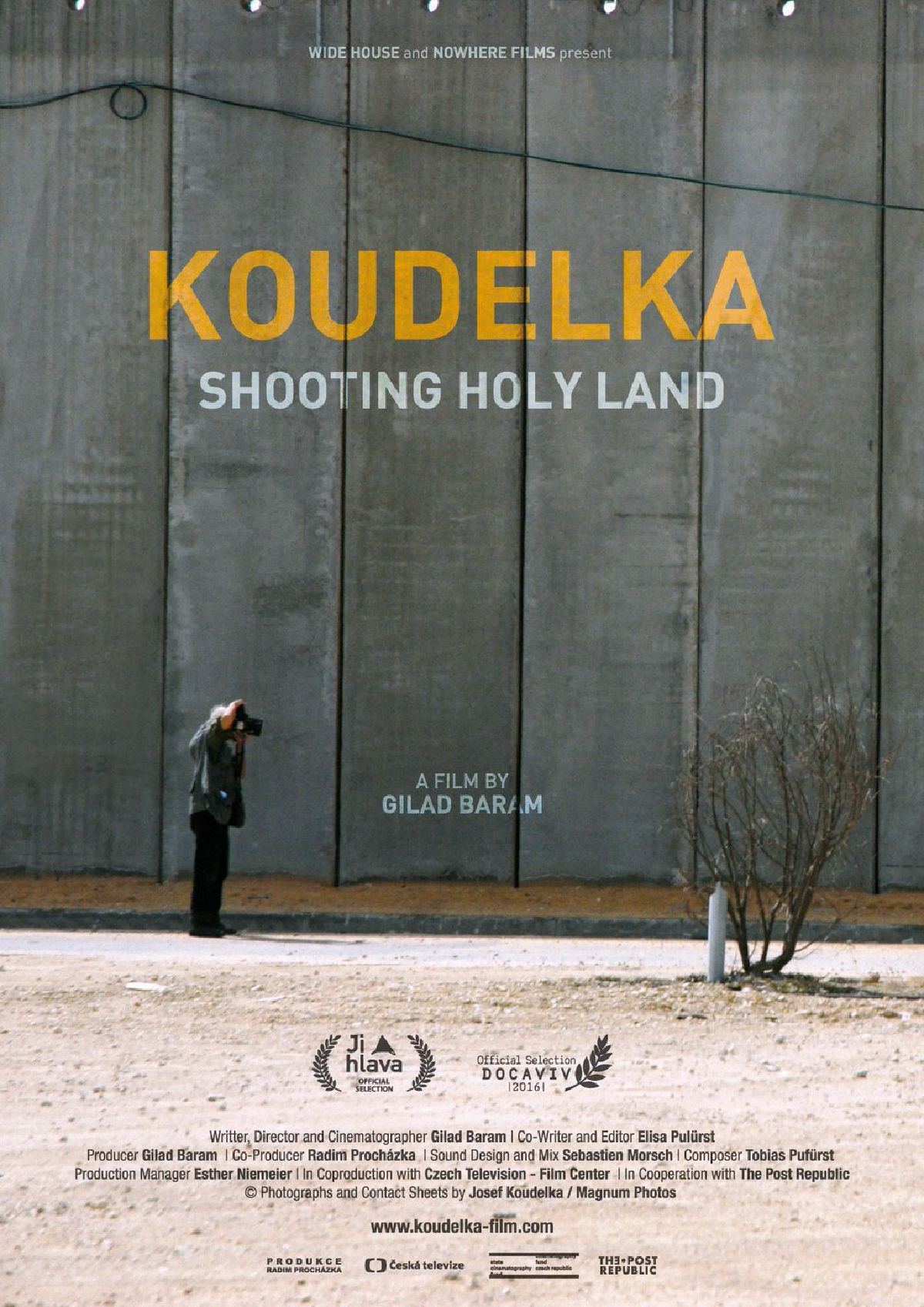 'Koudelka Shooting Holy Land' movie poster