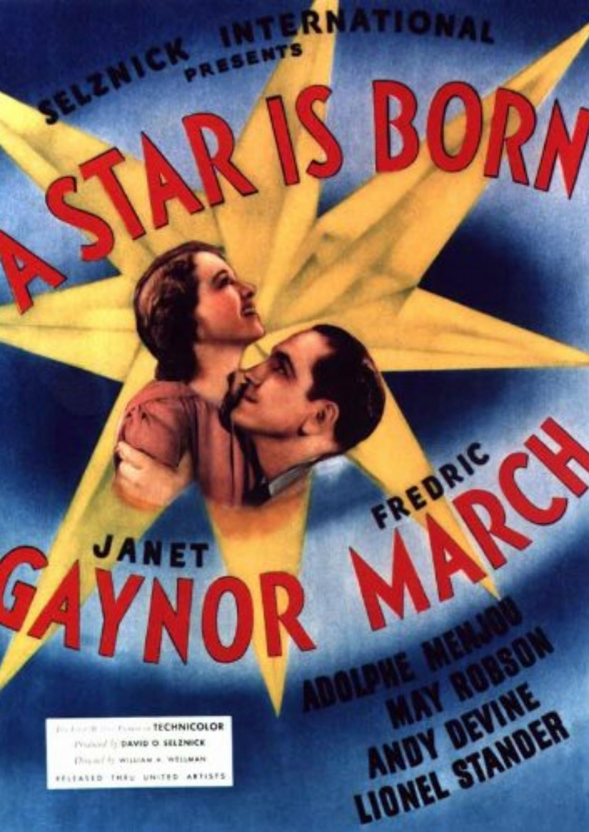 'A Star Is Born (1937)' movie poster