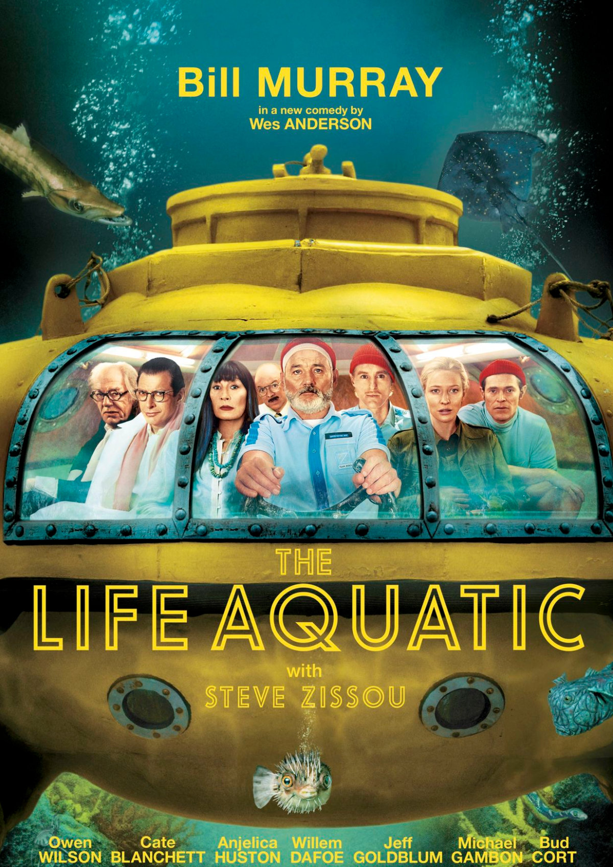 'The Life Aquatic with Steve Zissou' movie poster