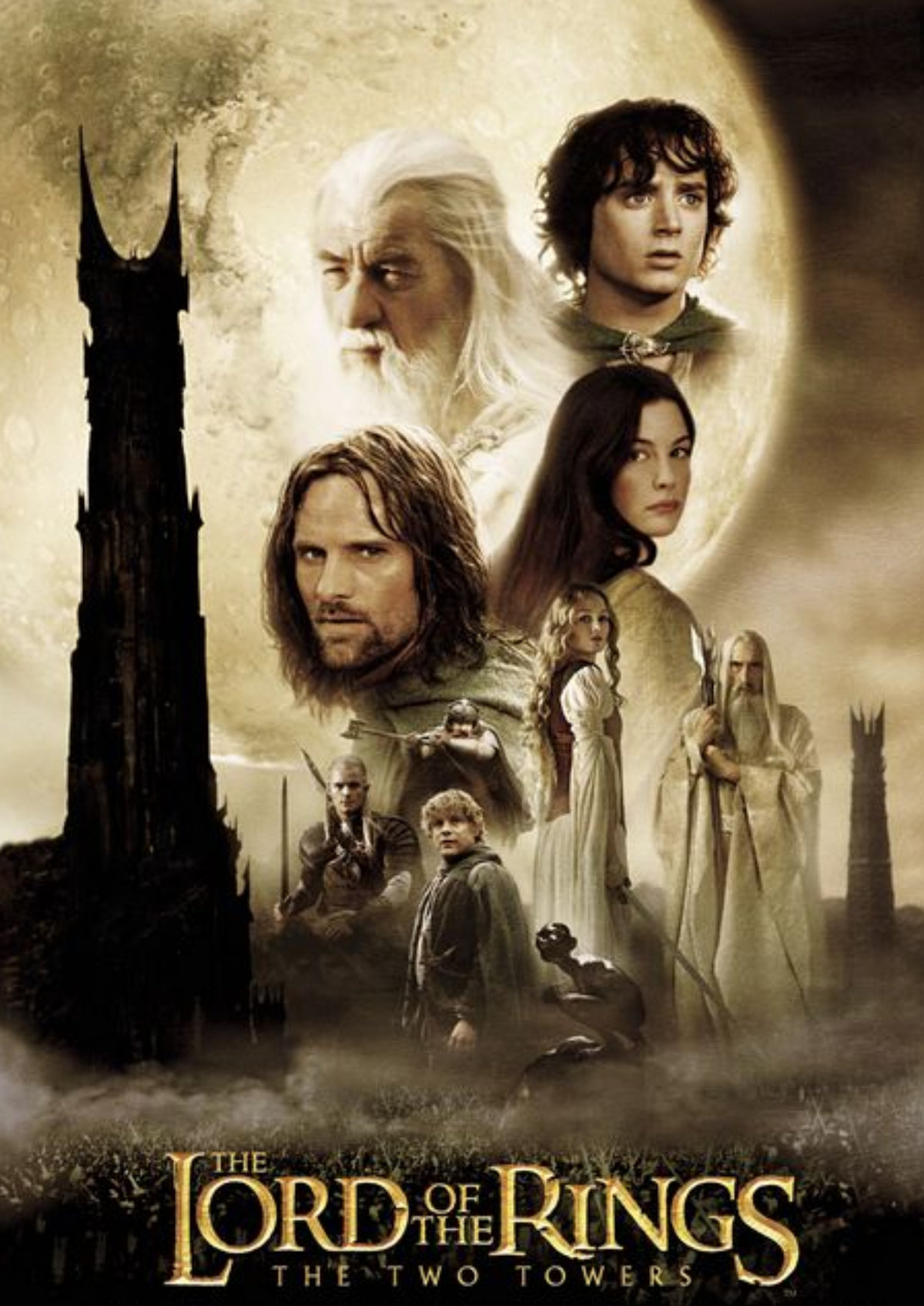 'The Lord Of The Rings: The Two Towers' movie poster