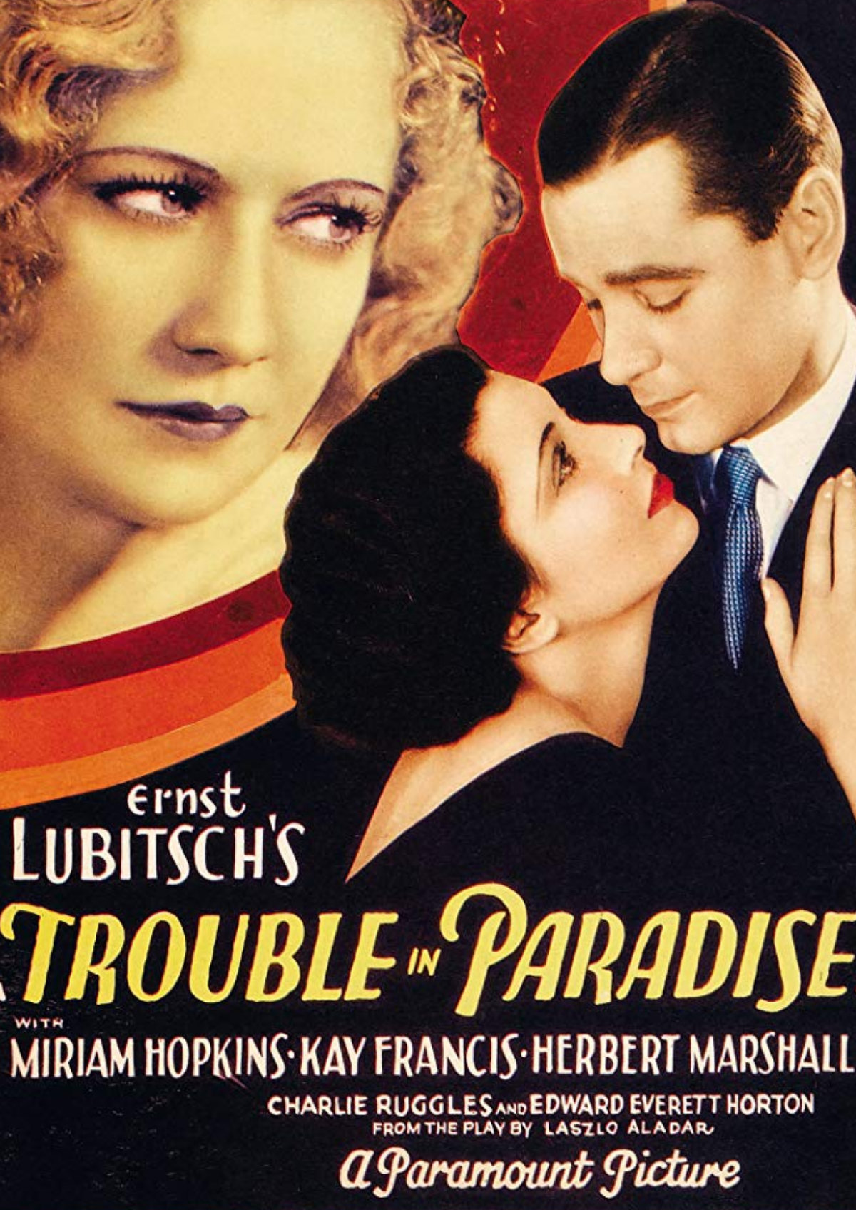 'Trouble In Paradise' movie poster