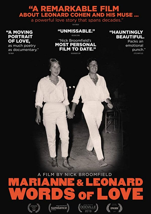 'Marianne & Leonard: Words Of Love' movie poster