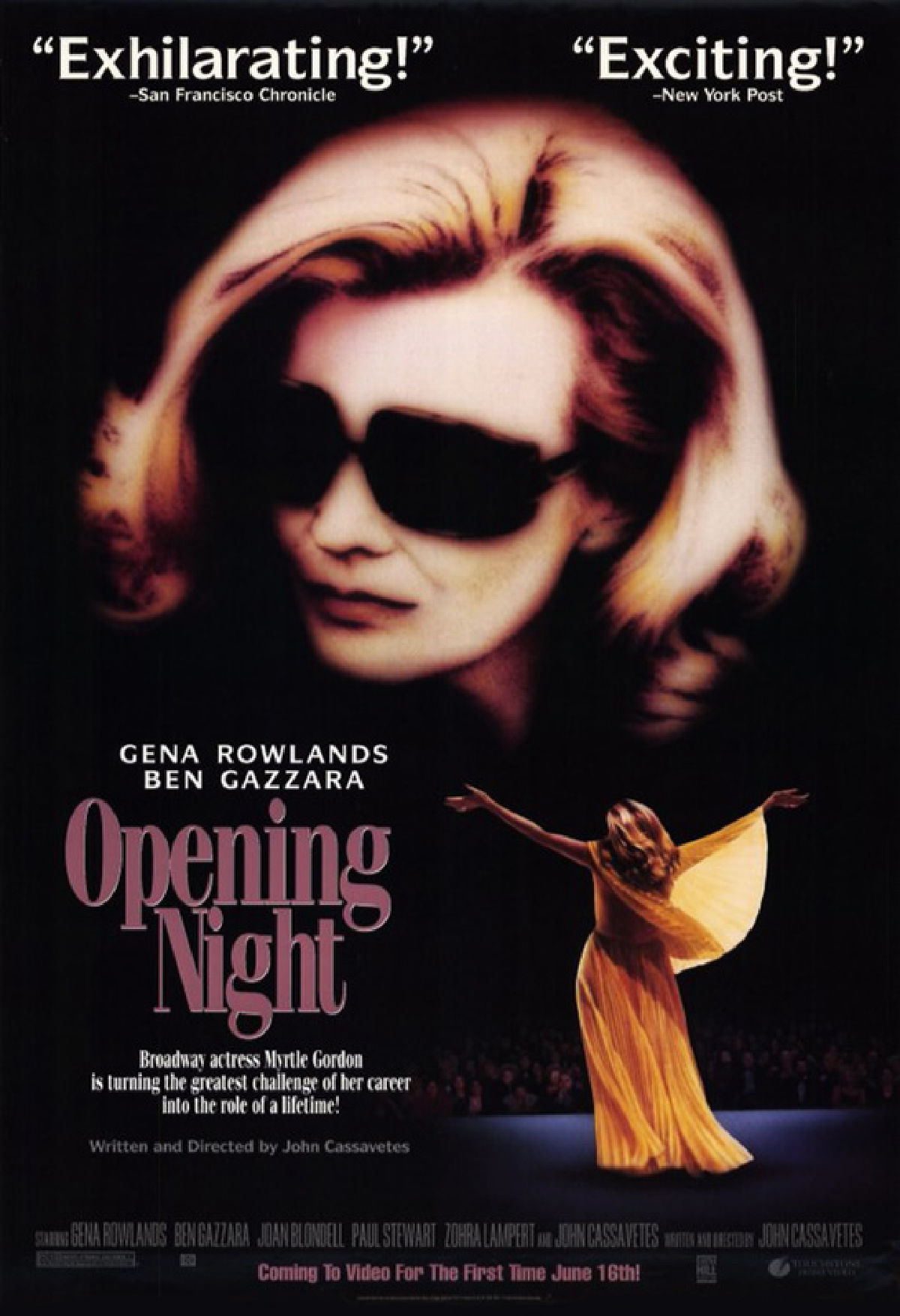 'Opening Night' movie poster