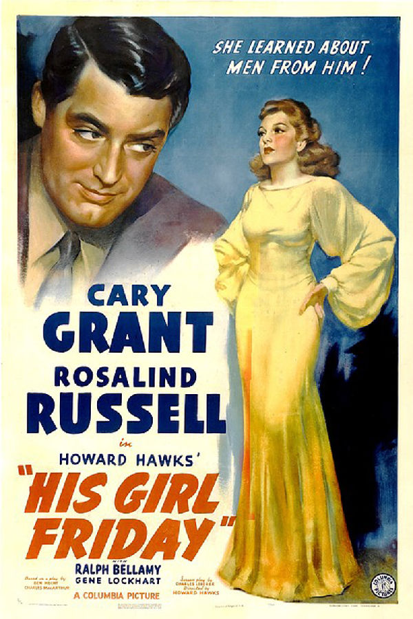 'His Girl Friday' movie poster