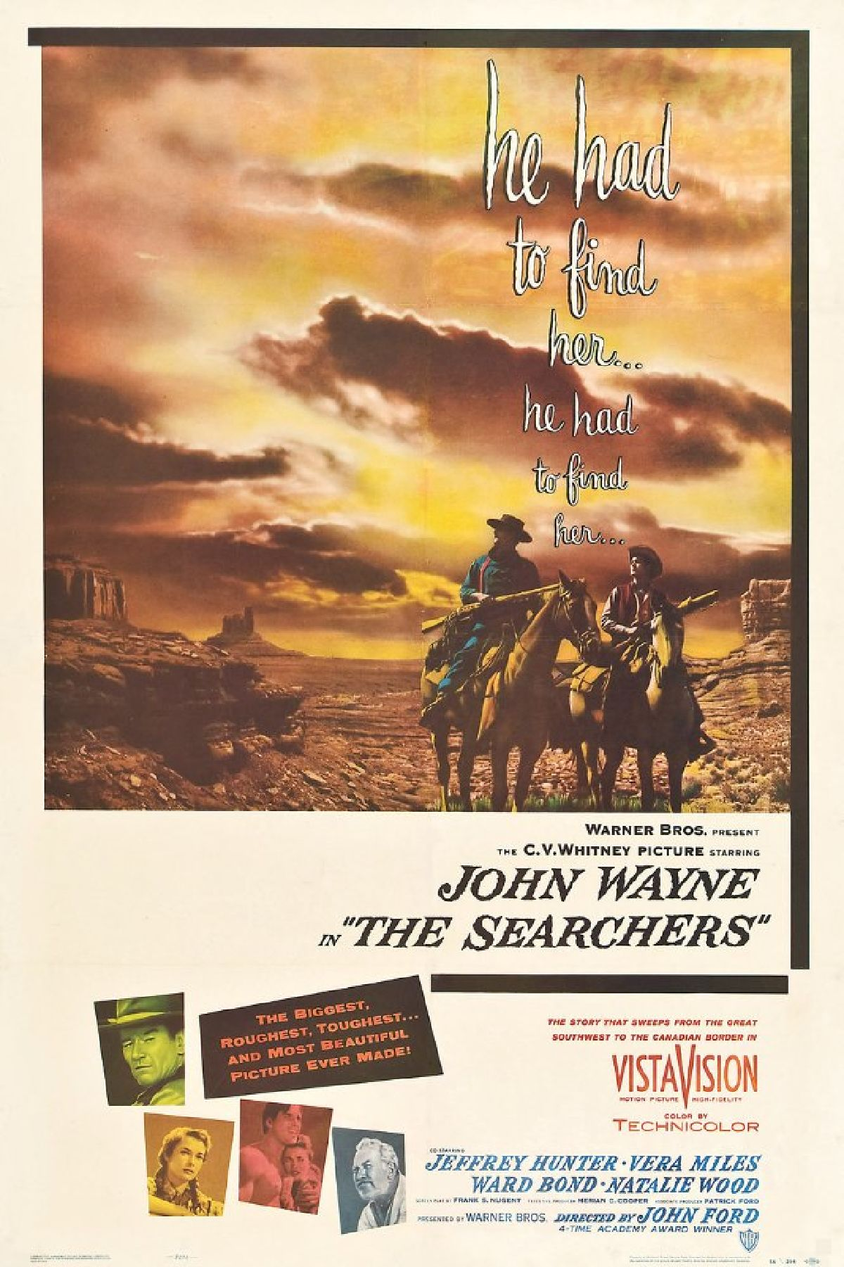 'The Searchers' movie poster
