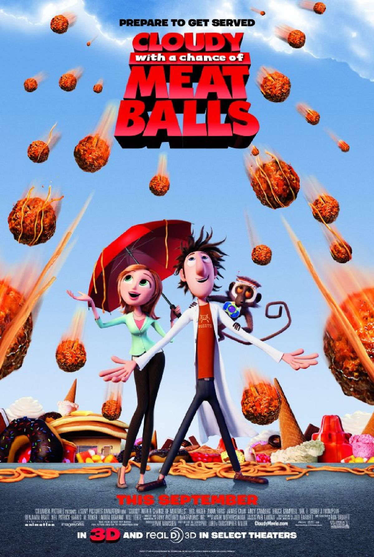 'Cloudy With a Chance of Meatballs' movie poster
