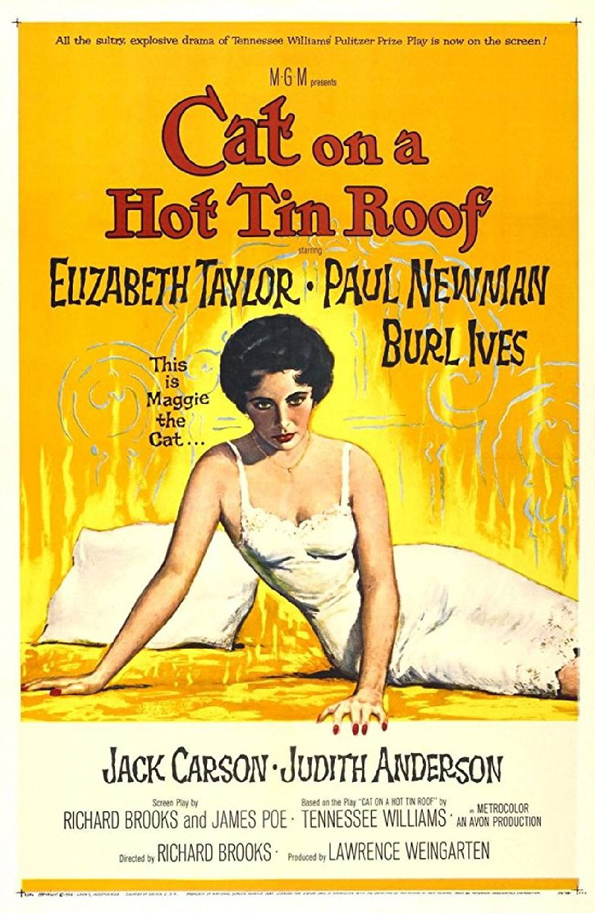 'Cat On A Hot Tin Roof' movie poster