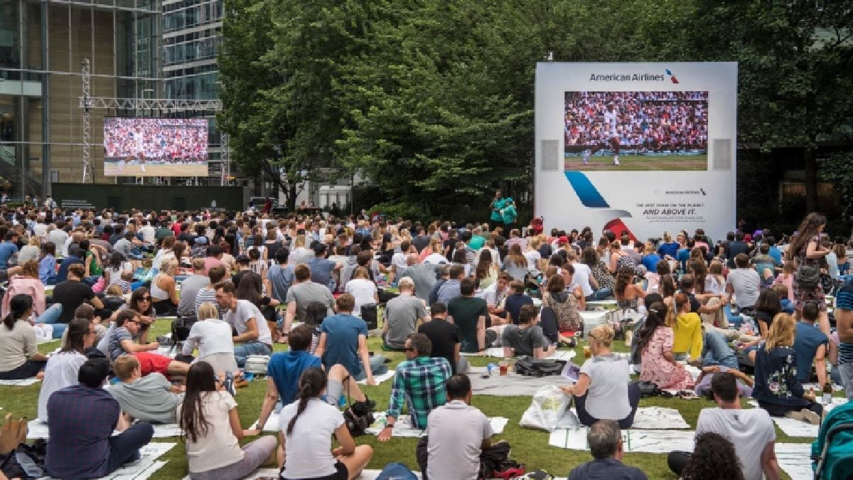 Summer Screens at Canary Wharf